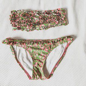 Lilly Pulitzer Pink & Green Floral Bikini